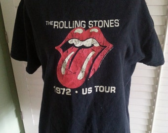 1972 The Rolling Stones T shirt, vintage T shirt, Rolling Stones T shirt.