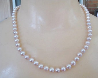 Real Pearl Necklace  with 14 kt Clasp