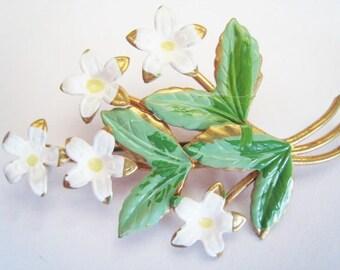 Austria Enamal Flower Pin