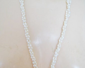 Three Strands of Real Fresh Water Pearls