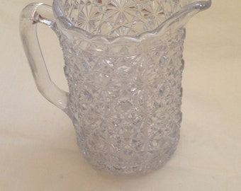 Beautiful Cut Glass Jug. Perfect Used Condition and Intricately Cut Detail.
