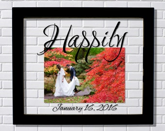 Happily Wedding Frame - Floating Frame - Happily Ever After - Photo Picture Frame - Wedding Photo Frame - Wedding Gift - Personalized Custom