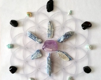Archangel Michael Crystal Grid Kit