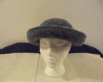 Hand knitted and hand felted hat