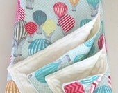 Baby blanket-Hot air balloon baby blanket-baby girl blanket-minky baby blanket-Christmas gift-baby shower gift-cream minky dot