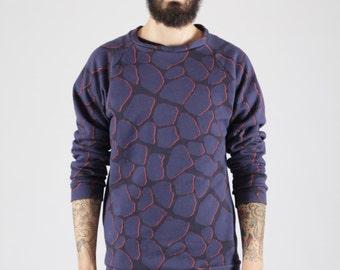 Sweatshirt printed cotton