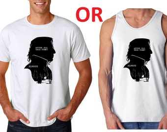 Alan Rickman (Severus Snape Always) tribute T shirt or Tank Top RIP Alan Rickman Harry Potter Forever Love
