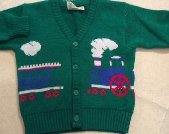 Vinatge Boys Train Sweater