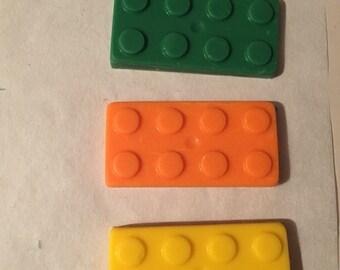 Chocolate lego blocks