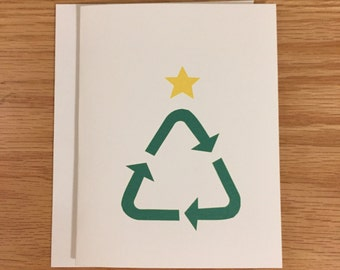 Funny Christmas Card, Christmas card for environmentalists