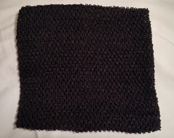 Black Tutu Top, Black LINED Tutu Top, 10 Inch Tutu Top, 10 Inch LINED Tutu Top, Crochet Top, Waffle Top, Tutu Top, Black Tube Top