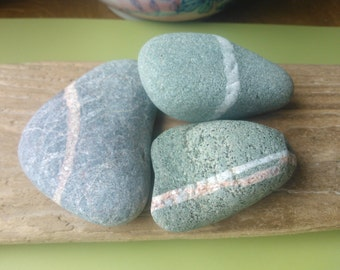 Wishing stones , striped stones , Scottish stones , ringed stones , stones with stripe