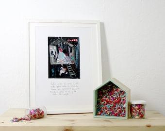 Print. The alchemists. 32 x 44, 5 cm.