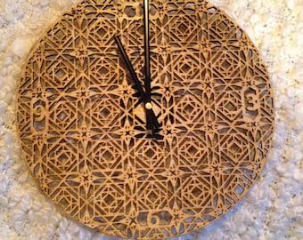Laser Cut Turkish Clock