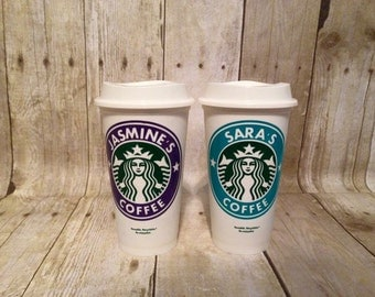 Personalized Starbucks Coffee Cups, Custom Coffee Cup, Travel Mug, Gift for Teacher, Gift for Her, Birthday Gift, Father's Day Gift