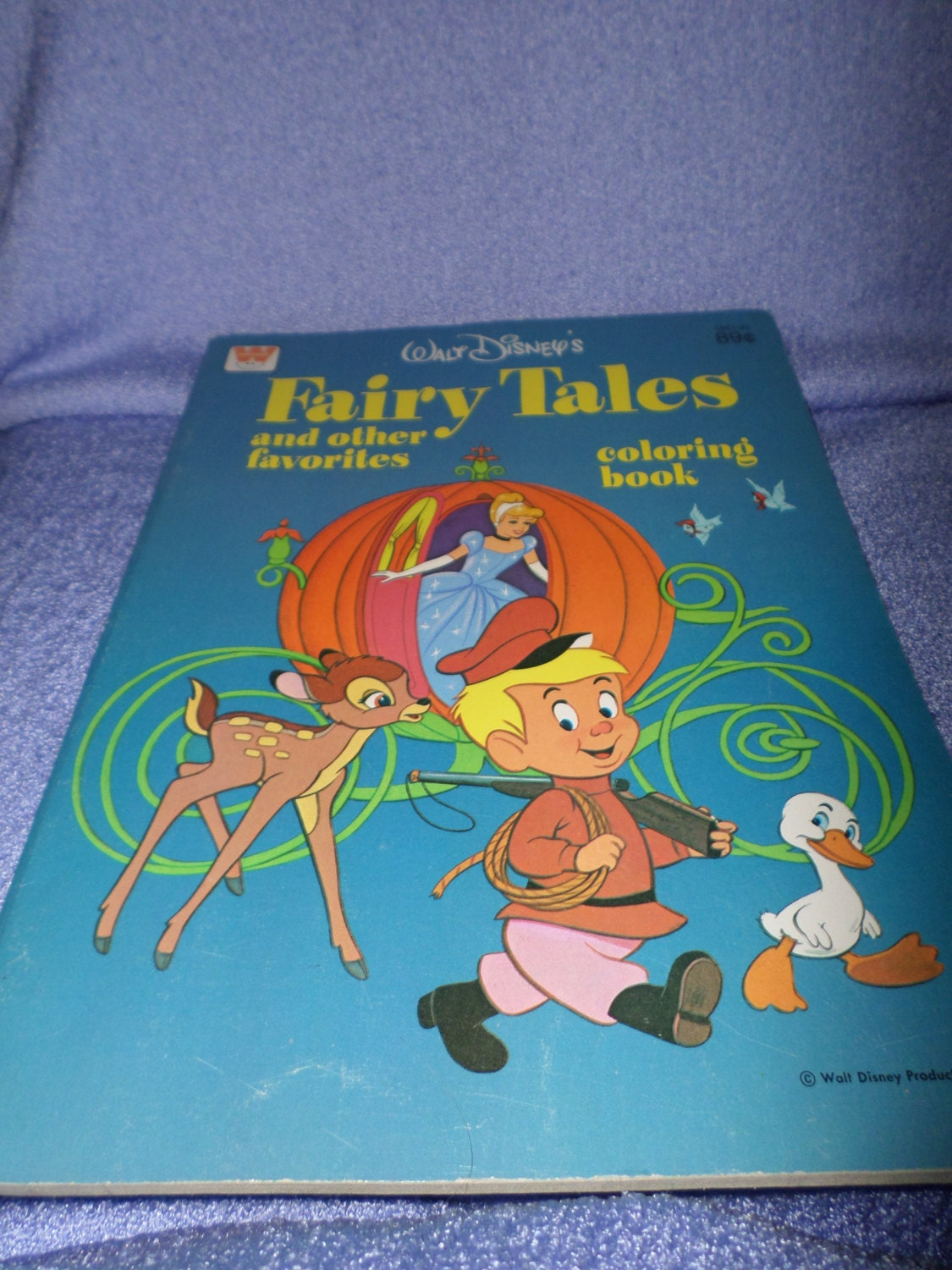 Vintage Fairy Tales Disney Coloring Book Other Favorites