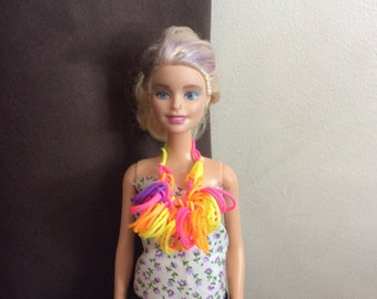Doll loom band bright statment necklace