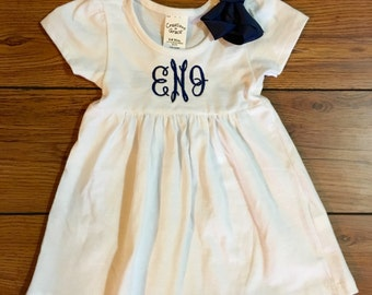 Monogrammed Dress with bow