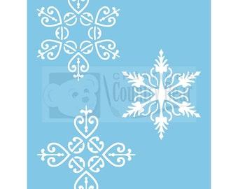 Stencil -  Snowflakes 7 -   ST-065