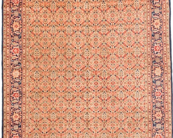 "Vintage Mahal Persian Rug, 8'3"" x 12'4"""