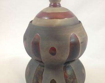 Raku Curvy Jar