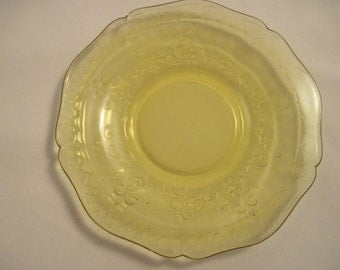 Patrician Spoke Saucer- Depression Glass - Item #1111
