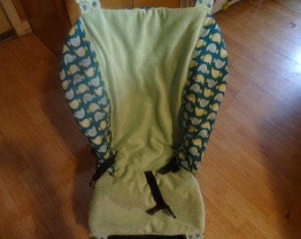 SALE Ready To Ship ORGANIC COTTON Fitted Umbrella Stroller Seat Cover