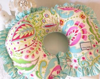 Kumari Garden Teja Pink, Mint, and Kumari Garden Tarika Blue Nursing Pillow Cover