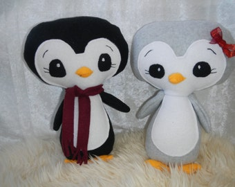 Penguin Stuffed Animal, Stuffed Toy, Handmade Toy, Cute Stuffed Penguin, Christmas Present For Girl, Christmas Present for Boy, Plush Animal