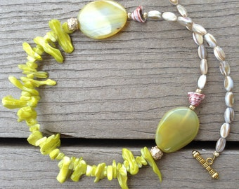 Statement Necklace, Shell Necklace, Artisan Jewelry