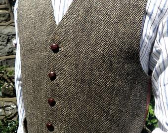Harris Tweed Waistcoat Vest Size M