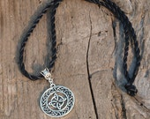 Encircled Sacred Four Necklace - amulet talisman pagan wicca wiccan witch witchcraft symbol celtic norse knot work four directions elements