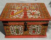 Wooden Chest Traditional Russian painting.