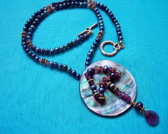 Fresh water pearls, mother of pearl,