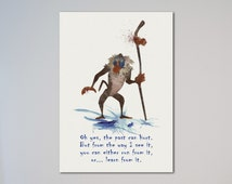 The Lion King Rafiki Quote Watercolor illustrations Art Print gift for daughter Picture children friend the past can hurt express