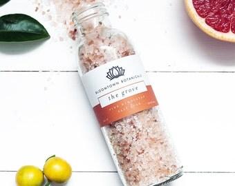 Pampering Pink Himalayan Bath Salts - The Grove (Blood Orange & Pink Grapefruit) - Vegan, Cruelty Free, Nourishing and Relaxing