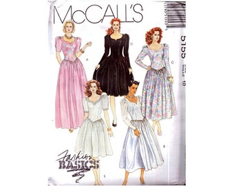 Genuine Vintage 1990 McCall's 5155 Ladies Sweetheart Neckline Fitted Bodice Evening Party Dresses Sewing Pattern