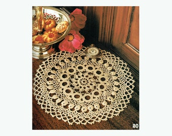 Genuine Vintage Marchioness Ultra-Lacy Doily Heirloom 'For the Experts' Crochet Pattern PDF