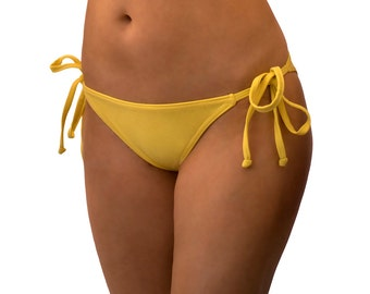Rockadi Tie-Side Briefs Bikini Bottom, Eco-friendly Swimwear, more plain colours available