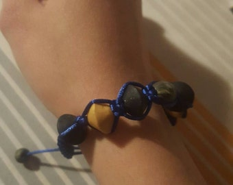 Fimo colors gold and starred bracelet