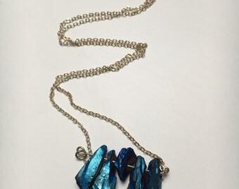 Titanium quartz bridge necklace