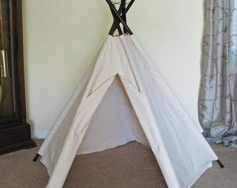 5' Bright White Traditional 5-Pole Tepee Tent