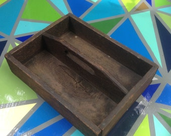 Rustic Wood Tote Box