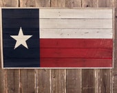 Wooden Texas Flag - Texas Wall Decor - Large Wooden Signs - Reclaimed Wood Texas - Flag Wall Art - Wood Texas Sign - Reclaimed Wood Signs