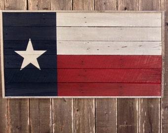 Wooden Texas Flag - Texas Wall Decor - Large Wooden Signs - Reclaimed Wood Texas - Flag Wall Art - Wood Texas Sign - Reclaimed Wood Signs