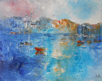 Painting  Small French port