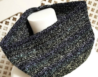 Pastel cowl, Star stitch cowl, Deep cowl, crochet cowl