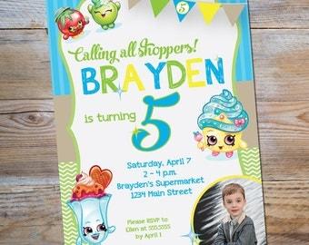 Shopkins Birthday Party Invitation