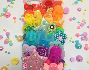 Rainbow Overload Decoden Phone/Device Case - Made To Order