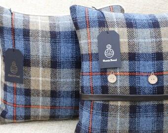 Harris Tweed cushion Mckenzie tartan Button fronted cushion part of my exclusive spring range